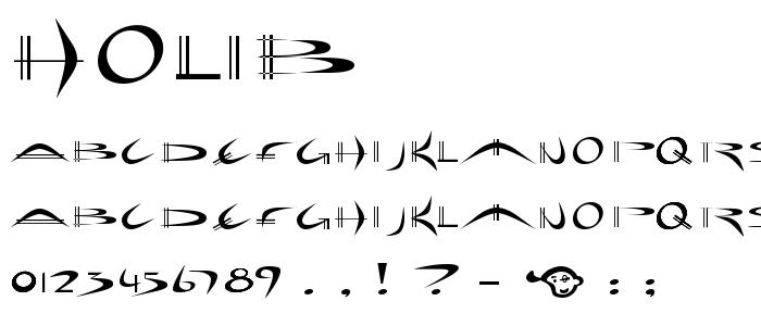 Holib font