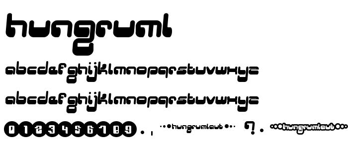 HUNGRUML.TTF font