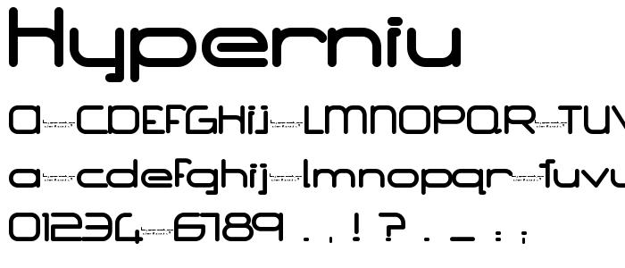 Hyperniu font