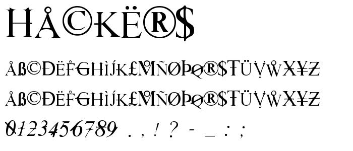 Hackers.ttf font