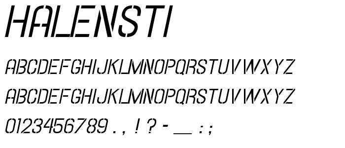 Halensti font