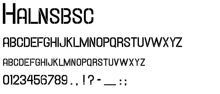 Halnsbsc font
