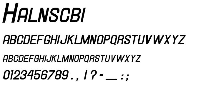 Halnscbi.ttf font