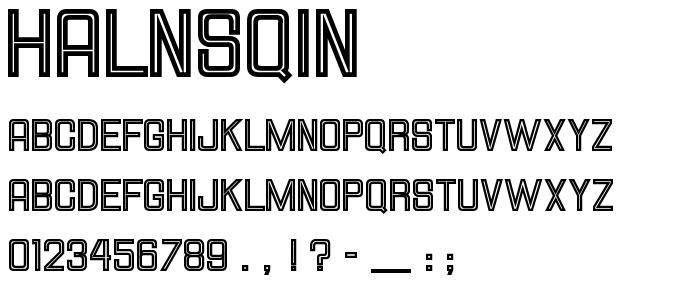 Halnsqin font
