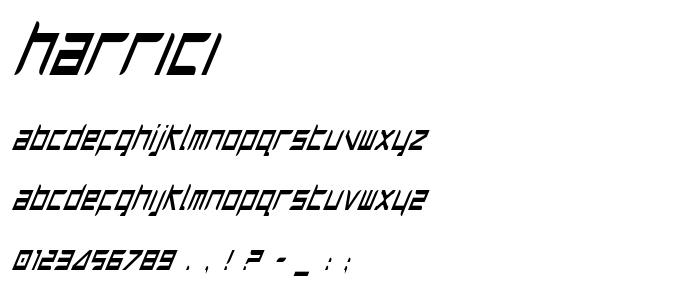 Harrici font