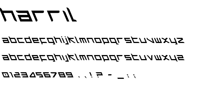 Harril font