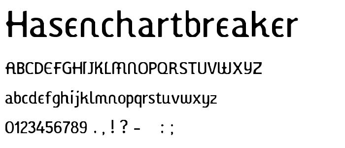 Hasenchartbreaker font