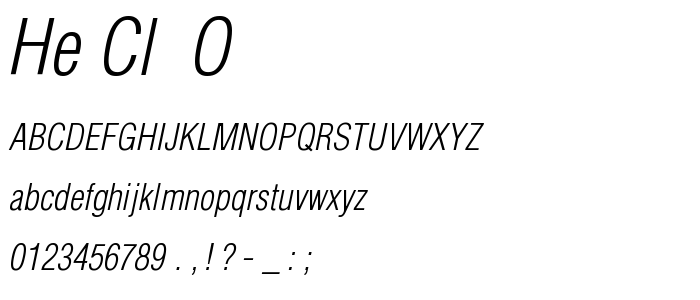 He Cl  O font