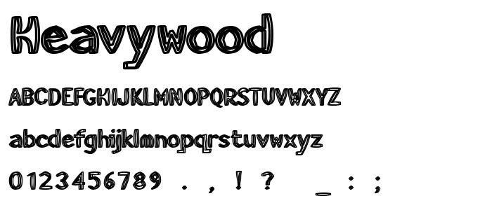 Heavywood font