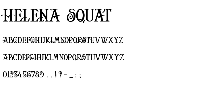 Helena Squat font
