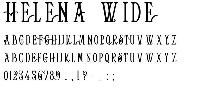 Helena Wide font