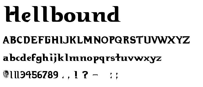 Hellbound font