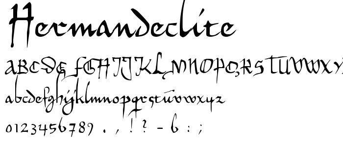 Hermandeclite font