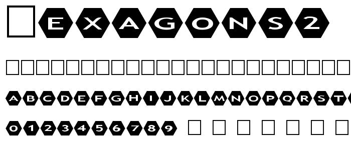 Hexagons2 font