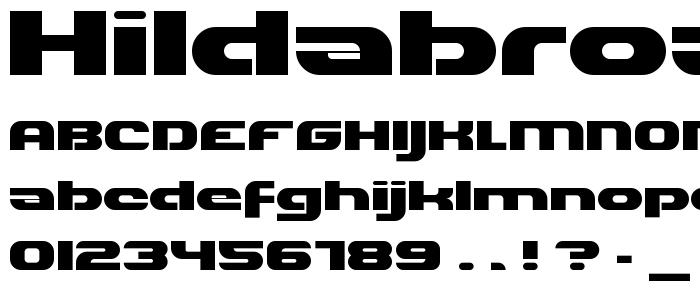 Hildabroad font