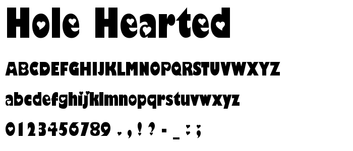 Hole Hearted font