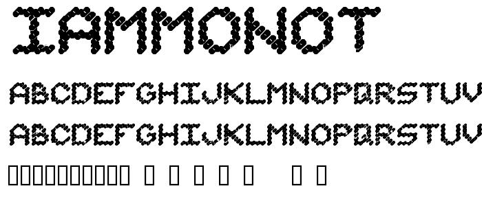 Iammonot font