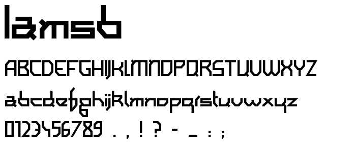Iamsb font