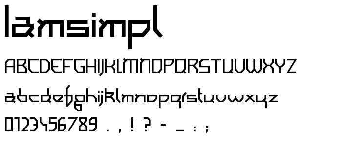 Iamsimpl font