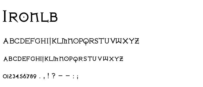 Ironlb font