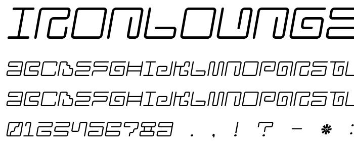 Ironlounge2 font
