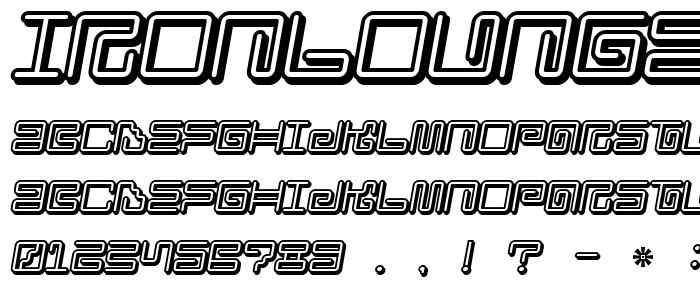 Ironloungesmart2 font