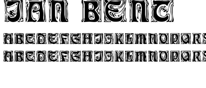 Ian_bent.ttf font
