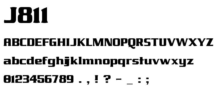 J811 font