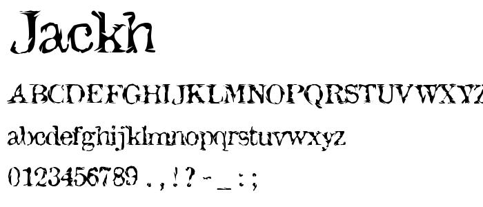 Jackh font