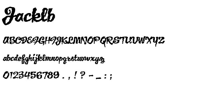 Jacklb font