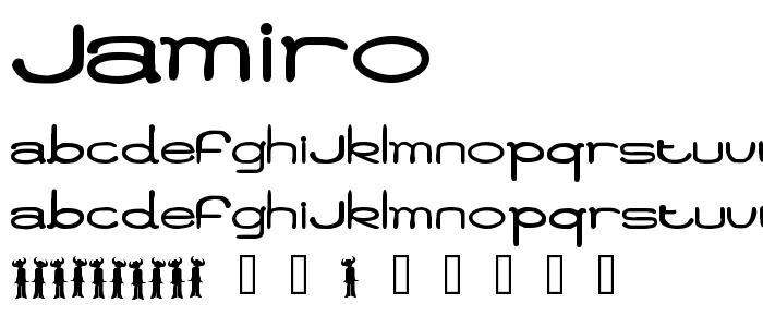 Jamiro font