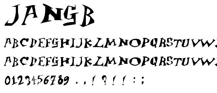 Jangb font