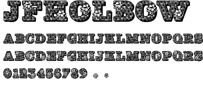 Jfholbow font