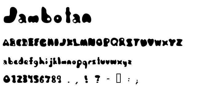 Jambotan font