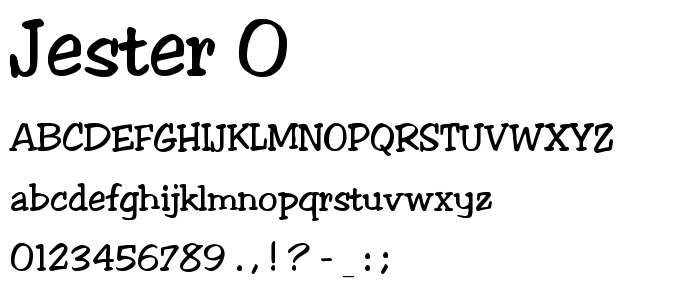 Jester 0 font