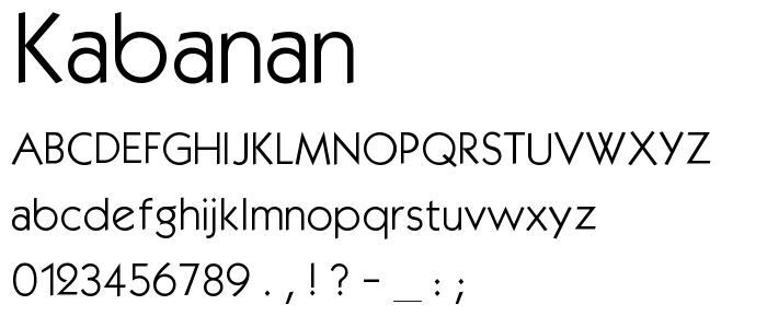 Kabanan font