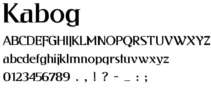 Kabog font