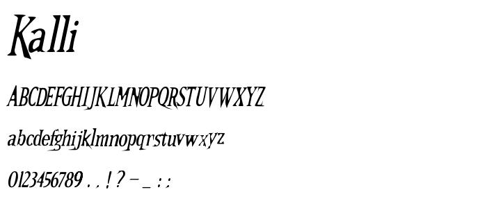Kalli font