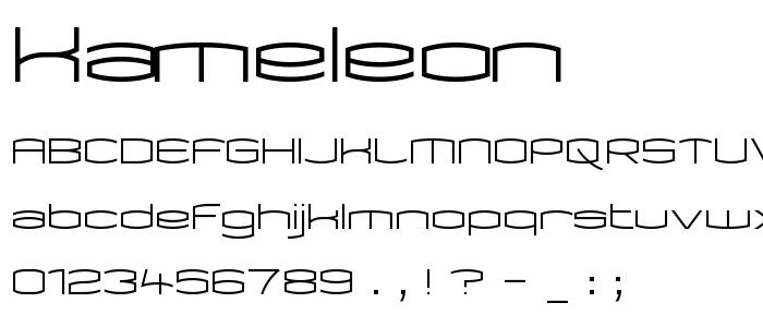 Kameleon font