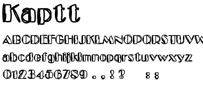 Kaptt font