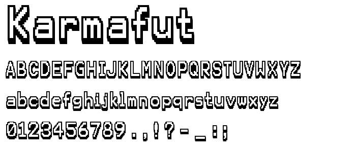 Karmafut font