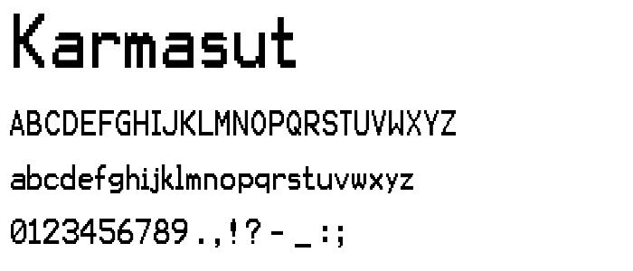 Karmasut font