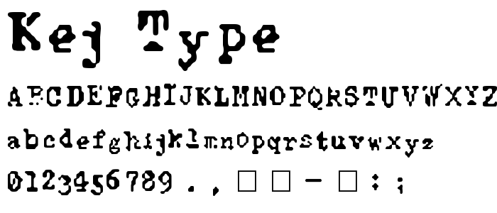 Kej Type font