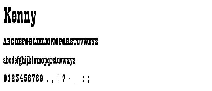 Kenny font