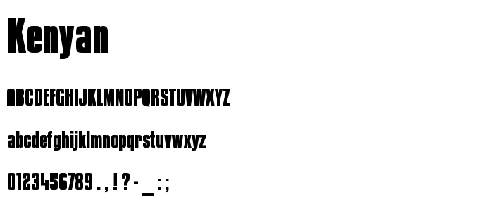 Kenyan font