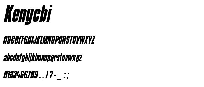Kenycbi font