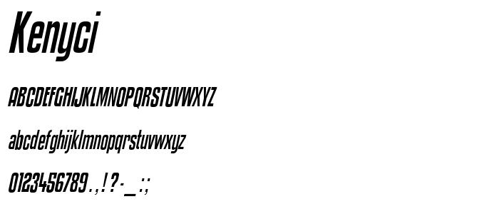 Kenyci font