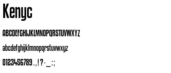 Kenyc font