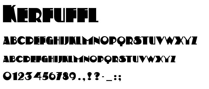 Kerfuffl font