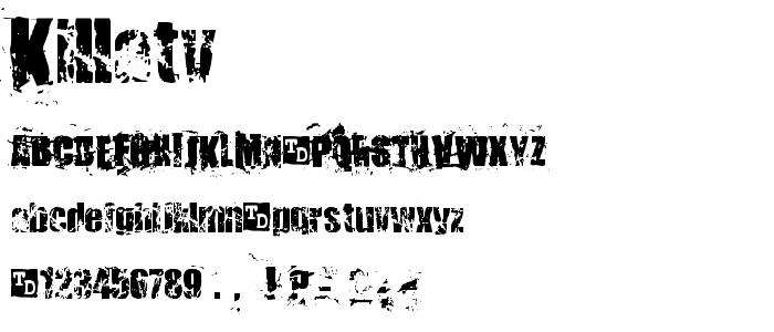 Killatv font